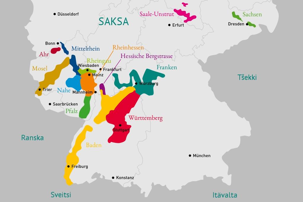 Saksalaiset viiniviljelyalueet