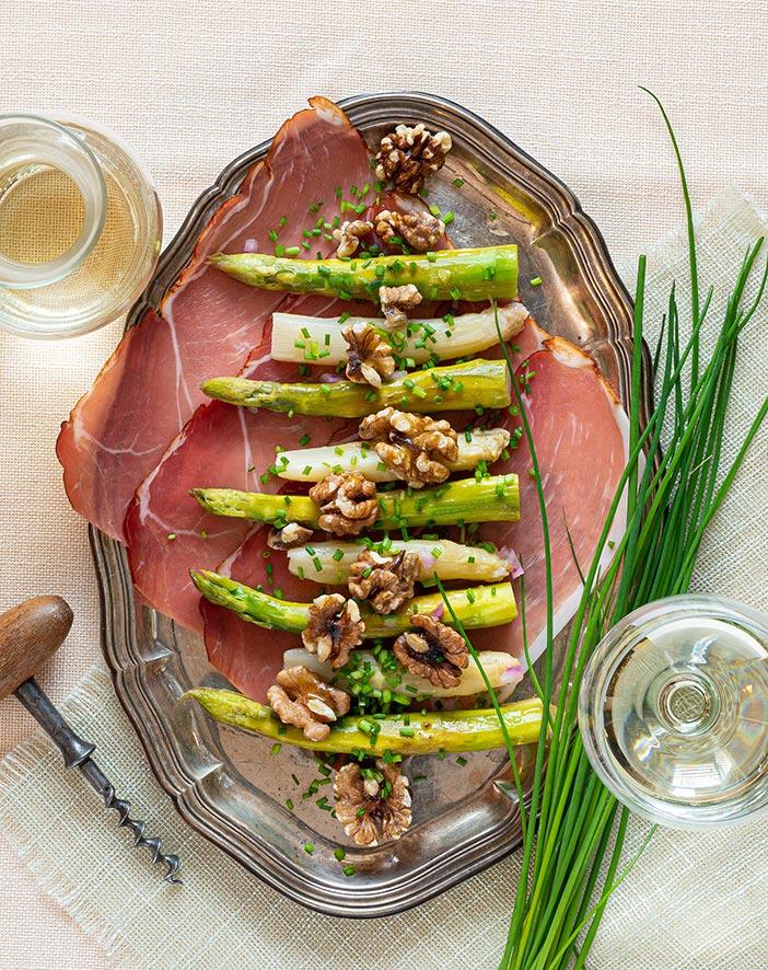 sv ravintolareseptit Pähkinämarinoitua parsaa